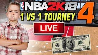 NBA 2K18 LIVE 1 vs 1 Tournament! #4 11/12/2017