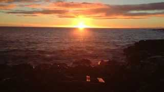 Sunset Over the Ocean in Poipu, Kauai, Hawaii