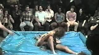 Co Ed Oil Wrestling.