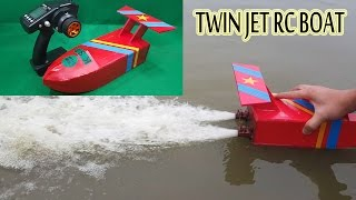 How to make a Twin Jet RC Boat Using Turbo Jet Motor