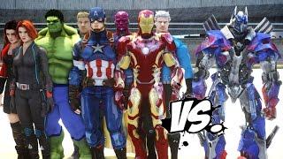 The Avengers VS Optimus Prime - EPIC Battle