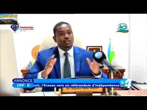 Djibouti l interview du Ministre de la santé excellence Dr Djama Elmi Okieh 28 3 2017