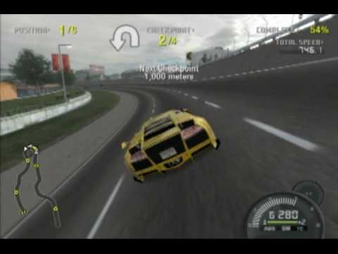 Need For Speed Pro Street Top Speed Run Gameplay