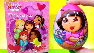 Nickelodeon Dora and Friends Into the city Valentines and unwrap Dora the explorer egg surprise
