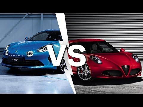 Alpine A110 2017 vs Alfa Romeo 4C così uguali così diverse Confronto