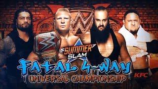 WWE Summerslam 2017: Fatal 4-Way (Full Match)