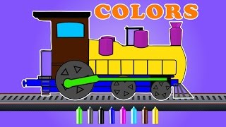 Train | learn colors | cartoon video for kids