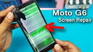 Moto G6 LCD Screen Replacement    Motorola Moto G6 Plus LCD Display Touch Screen Digitizer Replace