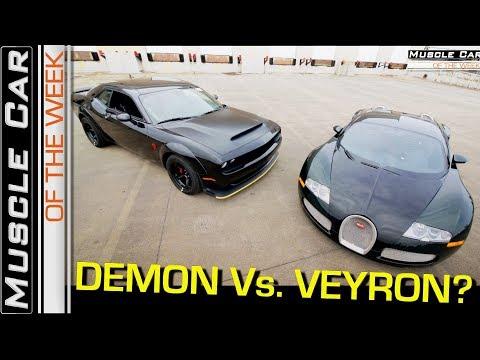 2018 Dodge Demon Vs. Bugatti Veyron Video Muscle Car Of The Week Episode 258 V8TV