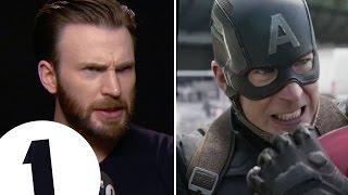 Chris Evans shows off Captain America