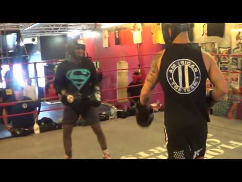 15-year old Amatuer Boxing champion vs Pro UFC fighter Go to WAR in Sparring!!!