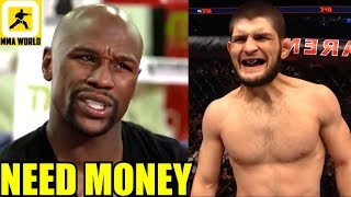 Floyd Mayweather is begging for a fight with Khabib as he has ran out of money,Greg Hardy,Masvidal