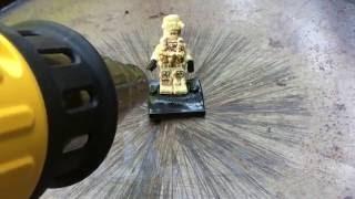 Melting Fake Lego with a Heat Gun
