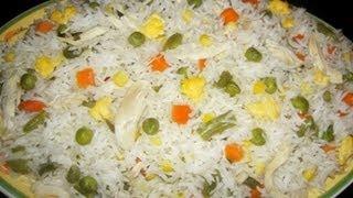 Chinese Pulao in Urdu/Hindi by Azra Salim