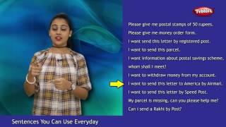 Hindi Sentences You Can Use Everyday | At a Post Office | English Sentences You Can Use Everyday