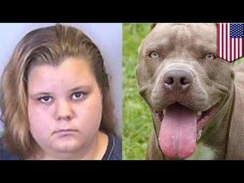 الشرطة تعتقل سيدةً بعد أن عثروا على صور لها تمارس الجنس الفموي مع كلب بيتبول