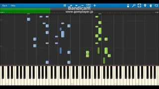 (selector spread WIXOSS OP) world's end, girl's rondo【採譜してみた】(Synthesia Piano Sheet)