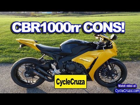 Bad Stuff About Honda CBR1000rr FireBlade