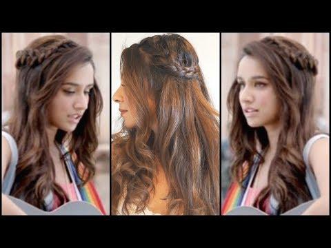 Xxx Mp4 Side Braided Hairstyle For Medium Long Hair│Shraddha Kapoor Half Girlfriend EASY Wavy Hair Tutorial 3gp Sex