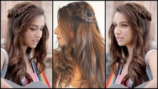 Side Braided Hairstyle Inspired By Shraddha Kapoor in Half Girlfriend │EASY Wavy Curls Hair Tutorial