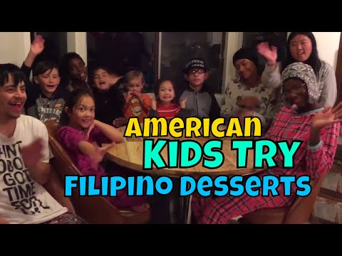 American Kids Try Filipino Desserts