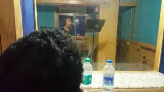 Khesari lal yadav and Hot Kajal Raghwani recording Mehandi Laga ke Rakhna