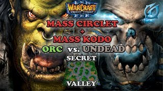 Grubby | Warcraft 3 The Frozen Throne | Orc v UD - Mass Circlet and Mass Kodo - Secret Valley