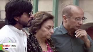 Shahrukh Khan Attends Father in law's Funeral in Delhi