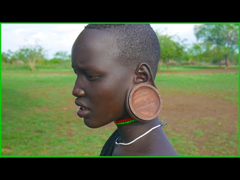Xxx Mp4 Woodturning Labial Plates Earring Plugs For Mursi Woman In Ethiopia 3gp Sex
