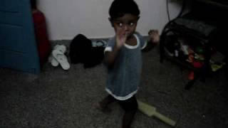 Kevin dance at age 1 to 2 for thiruda thirudi song of danush