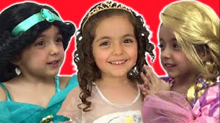 Cinderella, Rapunzel, Frozen Elsa And Anna Real Life Movie – Disney Princess Dress Up + Eggs