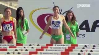 Michelle Jenneke si riscalda e balla  agli Junior World Championships Barcellona 2012