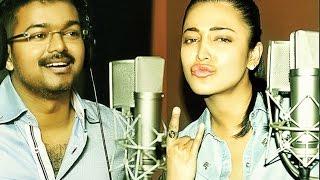 Puli Vijay  Shruthi Hassan  Devi Sri Prasad Fun Recording For Yendi  Yaendi Song Track Final Stage