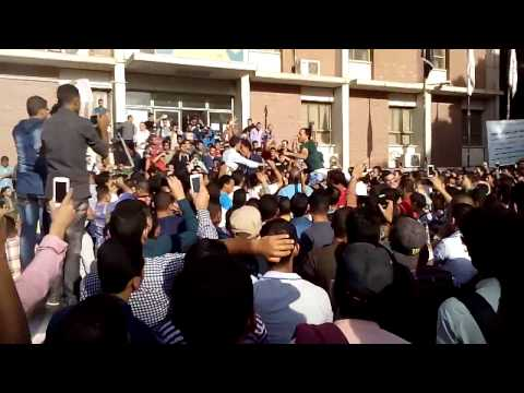 مظاهرات طلاب جامعة سوهاج بعد حادثة الكوامل للمطالبة باقالة رئيس الجامعة
