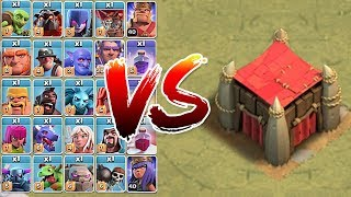 """How many troops UNTIL Destroyed!?! """"Clash Of Clans"""" Goblin CASTLE!!!"""