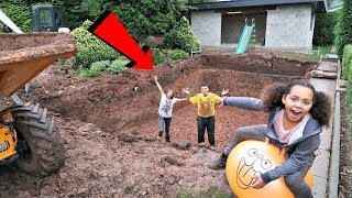 Swimming Pool In Our Garden -  House Tour - Gross Mud Challenge | Famtastic