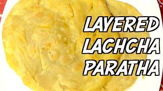 Layered Lachcha Paratha Recipe Sylheti Ranna Bangladeshi Cooking in Bangla Desi Food Laccha Porota