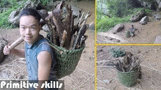 Primitive Technology: Woven Bamboo Baskets