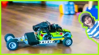 Toy Tow Truck to Lego Monster Truck Transformation