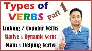 Verbs In English Grammar   All Types : Linking Copular Stative Dynamic Irregular Regular Transitive