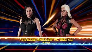 WWE 2K18 Stephanie McMahon VS Maryse Requested 1 VS 1 Ironman Match