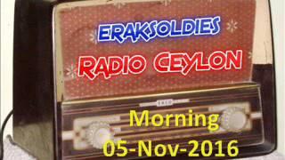 Radio Ceylon 05-11-2016~Saturday Morning~02 Purani Filmon Ka Sangeet