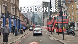 London Drive 4K - City of London Skyline - UK
