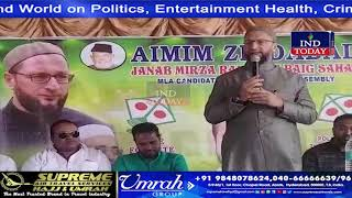 Asad Owaisi campaign against BJP Candidate