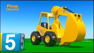 STICKY CEMENT TRUCK! Construction Cartoons for kids. Tractors + Trucks 3d Animation Videos for kids!