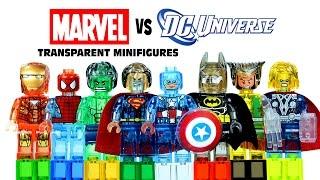 LEGO Marvel vs DC Superheroes Transparent KnockOff Minifigures Set 13 Avengers vs Justice League