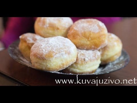 Krofne Video recept donuts