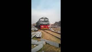 Pakistan Railways Green Line Express Train Departing Islamabad Margalla Railway Station to Karachi.