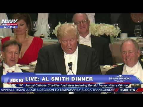 FULL Donald Trump Roasts Hillary Clinton At 2016 Al Smith Dinner FNN