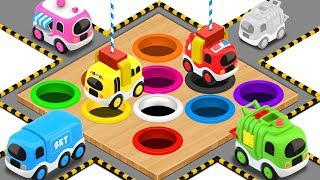 Coloring Street Vehicles Toys - Colors Videos for Children   Little Brain Works